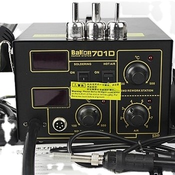 2 in 1 BK701D digital display soldering iron station and desoldering station