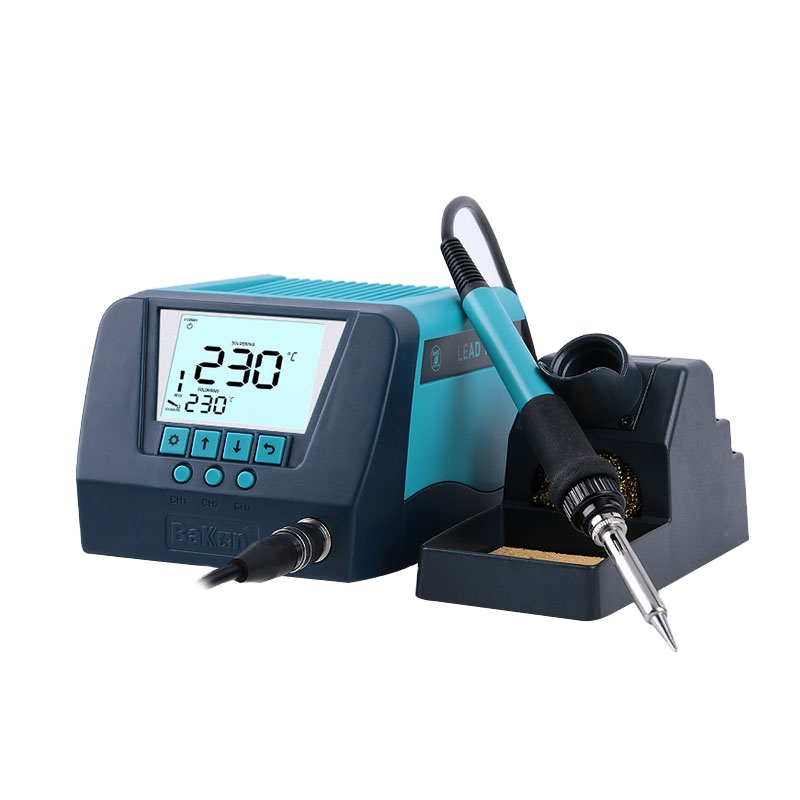 Bakon BK90 New Modle Large LCD Screen 90W Lead Free electric Soldering Iron Station