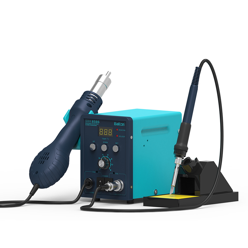 Bakon electronic digital SBK8586 2 in 1 rework soldering station
